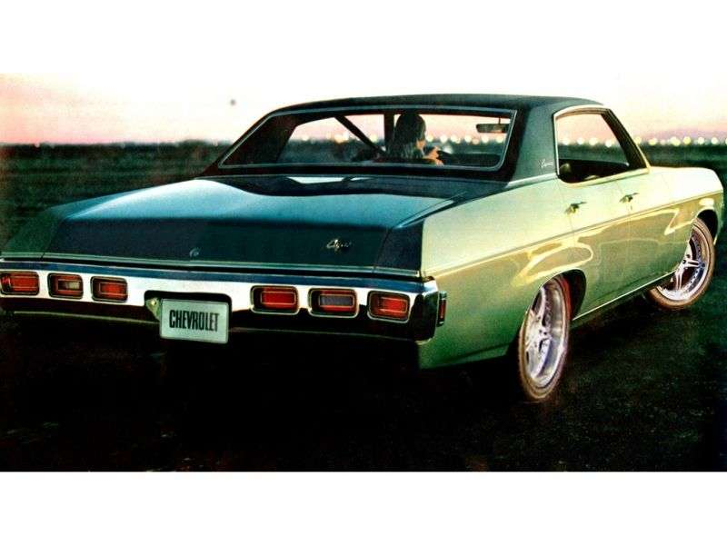 Chevrolet Caprice 1st generation [4th restyling] Sport Sedan 4 bit hardtop. 5.4 4MT (1969–1969)