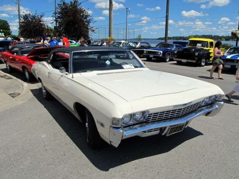 Chevrolet Caprice 1st generation [3rd restyling] Sport Coupe 2 bit hardtop. 6.5 Turbo Hydra Matic (1968–1968)