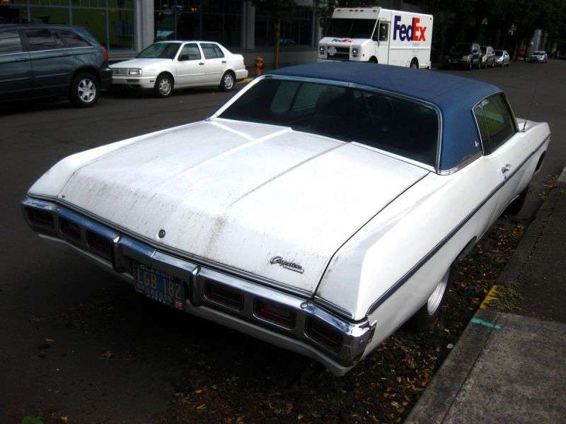 Chevrolet Caprice 1st generation [4th restyling] Custom Coupe 2 hard drive hardtop. 5.7 Turbo Hydra Matic (1969–1969)