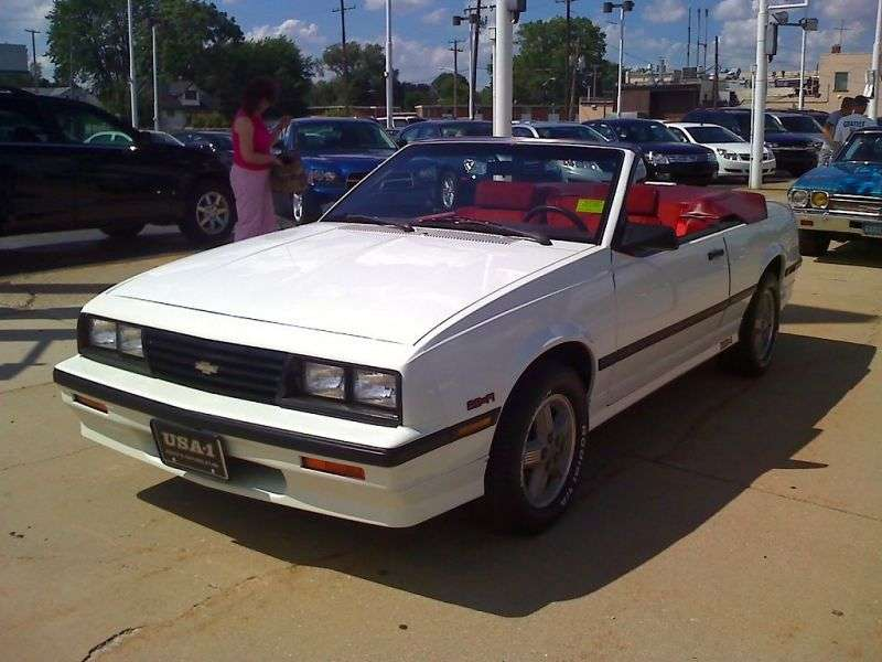 Chevrolet Cavalier 1st generation [restyling] 2.0 4MT convertible (1986–1987)