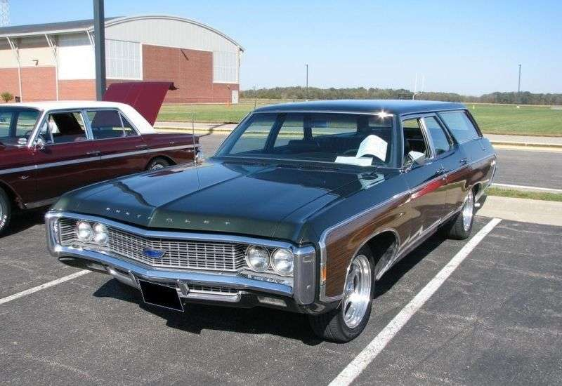 Chevrolet Caprice 1st generation [4th restyling] Kingswood Estate wagon 5.4 Powerglide 3 seat (1969–1969)