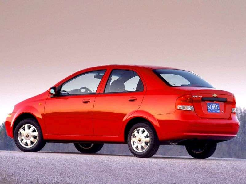 Chevrolet Aveo T200sedan 1.5i MT (2003–2006)