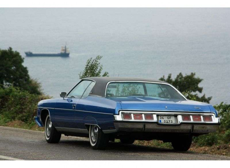 Chevrolet Caprice 2nd generation [2nd restyling] Custom Coupe 2 hard drive hardtop. 6.6 Turbo Hydra Matic (1973–1973)