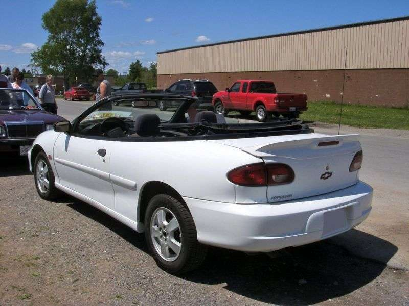 Chevrolet Cavalier 3rd generation [restyling] 2.4 MT convertible (1999–2000)