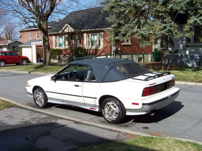 Chevrolet Cavalier 2nd generation convertible 2.8 MT (1987–1988)