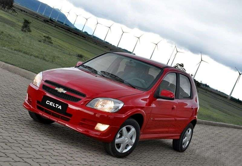 Chevrolet Celta 1st generation [2nd restyling] 5 bit hatchback 1.0 Flex Fuel MT (2011 – n. In.)