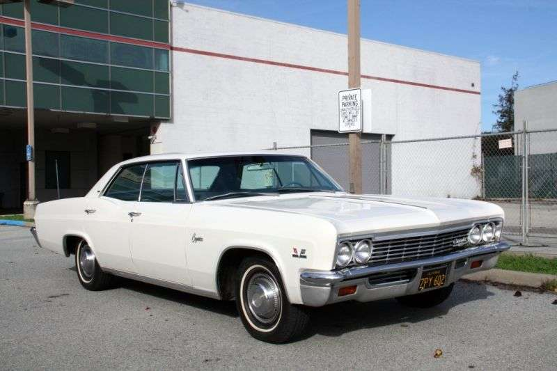 Chevrolet Caprice 1st generation [restyling] Sport Sedan 4 bit hardtop. 7.0 3MT Heavy Duty (1966–1966)