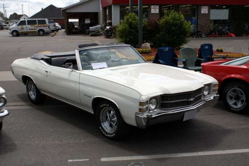 Chevrolet Chevelle 2nd generation [3rd restyling] 5.0 MT convertible (1971–1971)