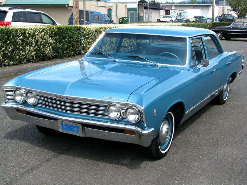 Chevrolet Chevelle 1st generation [3rd restyling] 4 d sedan 4.6 Powerglide (1967–1967)