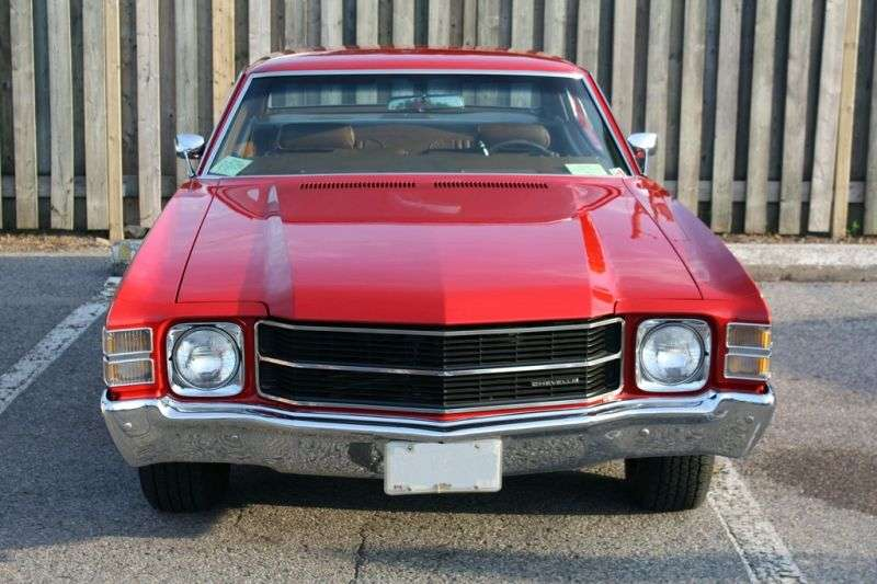 Chevrolet Chevelle 2nd generation [3rd restyling] Sport Coupe Coupe 5.7 4MT (1971–1971)