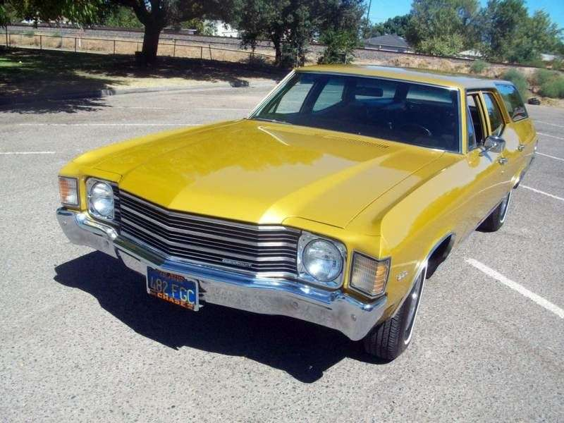 Chevrolet Chevelle 2nd generation [4th restyling] Concours Station Wagon 5.7 Turbo Hydra Matic 3 seat (1972–1972)