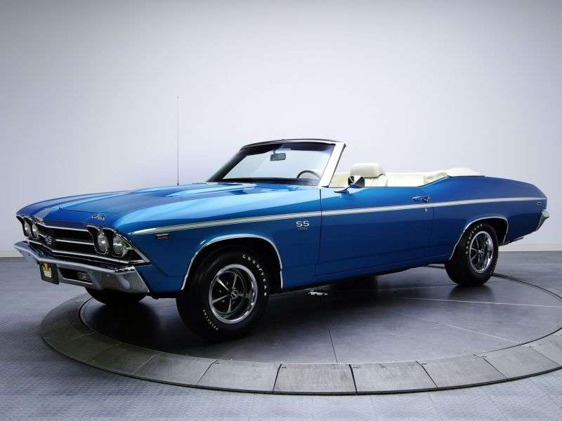 Chevrolet Chevelle 2nd generation [restyling] 3.8 MT HD convertible (1969–1969)