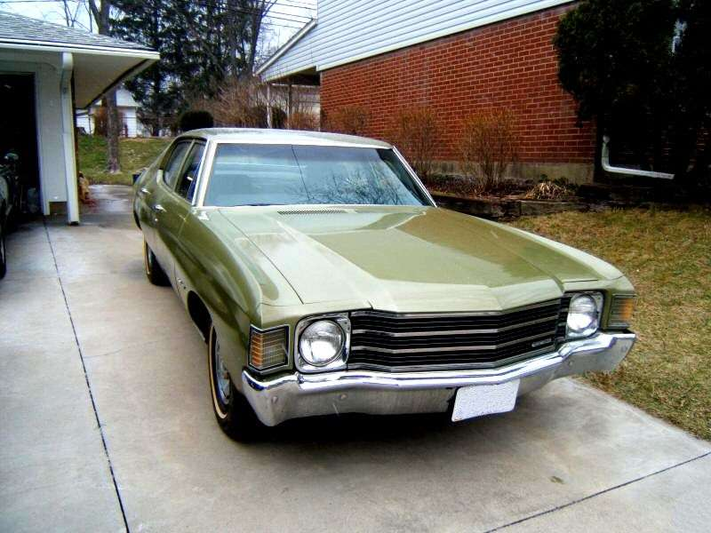 Chevrolet Chevelle 2nd generation [4th restyling] Sport Coupe Coupe 5.0 MT (1972–1972)