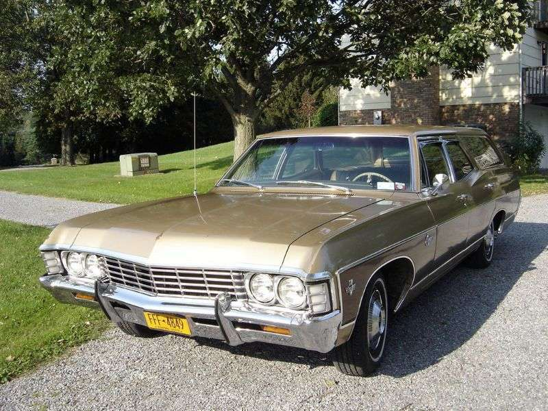 Chevrolet Caprice 1st generation [2nd restyling] Kingswood Estate wagon 4.6 3MT 2 seat (1967–1967)