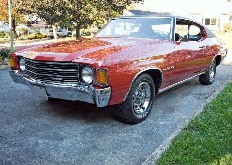 Chevrolet Chevelle 2nd generation [4th restyling] Sport Coupe Coupe 5.0 Powerglide (1972–1972)