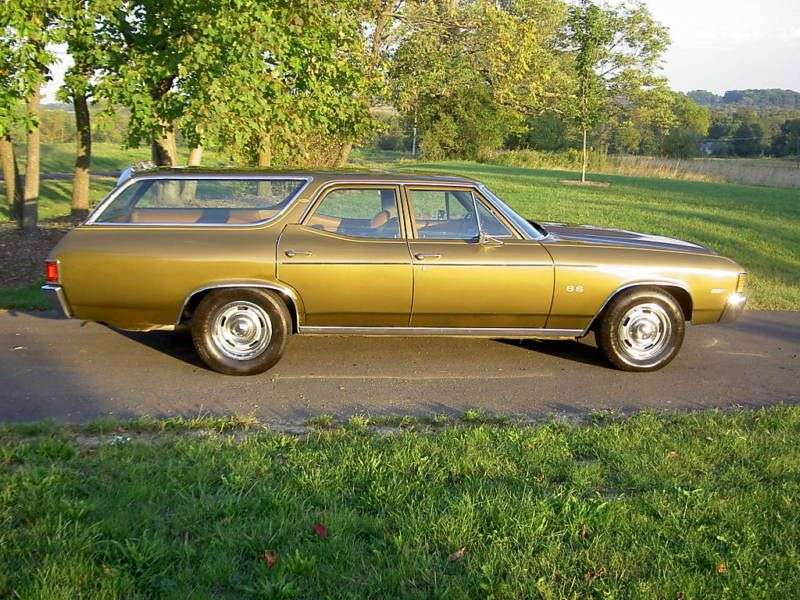 Chevrolet Chevelle 2nd generation [4th restyling] Concours Station Wagon 6.6 Turbo Hydra Matic 2 seat (1972–1972)