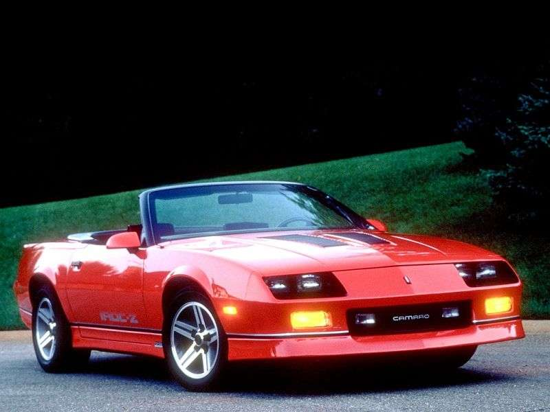 Chevrolet Camaro 3rd generation [restyling] Z28 convertible 5.0 MT (1988–1990)