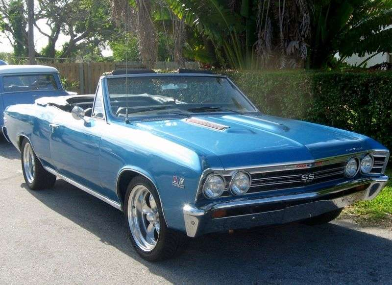 Chevrolet Chevelle 1st generation [3rd restyling] 6.5 Turbo Hydra Matic convertible (1967–1967)