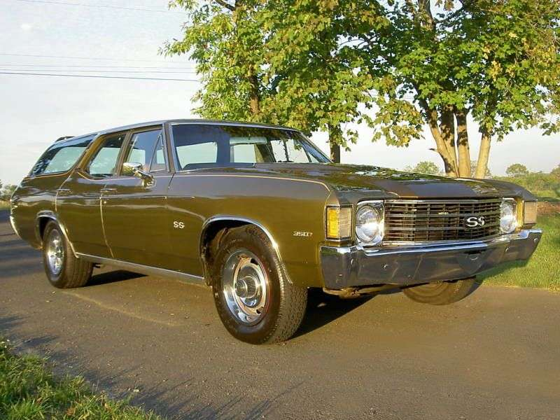 Chevrolet Chevelle 2nd generation [4th restyling] Concours Station Wagon 6.6 MT 3 seat station wagon (1972–1972)