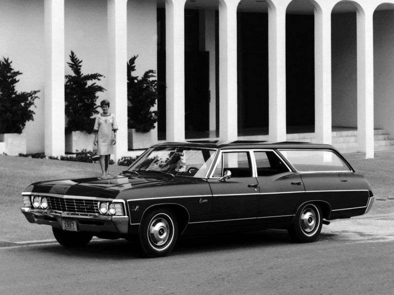 Chevrolet Caprice 1st generation [2nd restyling] Kingswood Estate wagon 6.5 4MT 2 seat (1967–1967)