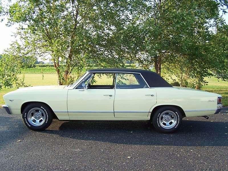 Chevrolet Chevelle 1st generation [3rd restyling] Sport Sedan hardtop 4.6 Synchromesh Overdrive (1967–1967)
