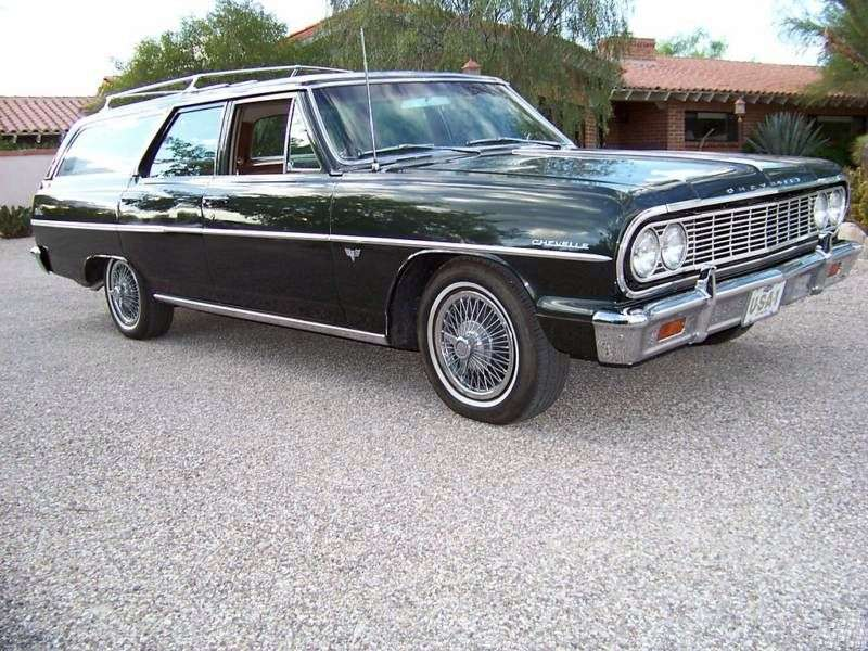Chevrolet Chevelle 1st generation Station Wagon 5 speed wagon. 3.8 Powerglide 3 seat (1964–1964)