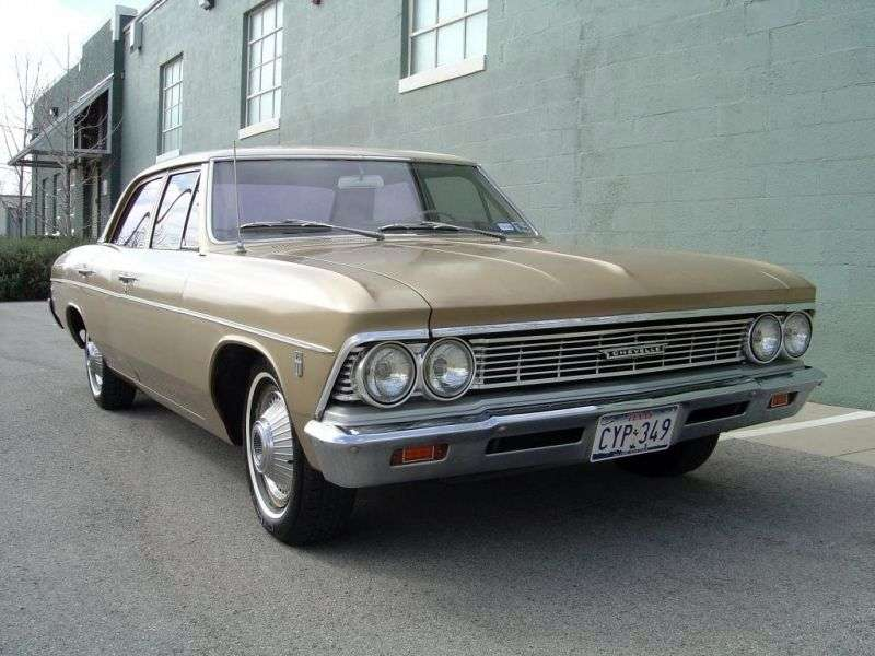 Chevrolet Chevelle 1st generation [2nd restyling] 4 d sedan 3.2 Powerglide (1966–1966)