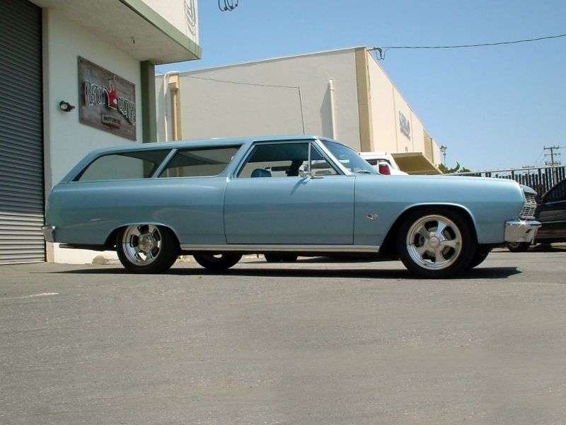 Chevrolet Chevelle 1st generation [restyling] Station Wagon 3 speed wagon. 3.8 Powerglide (1965–1965)