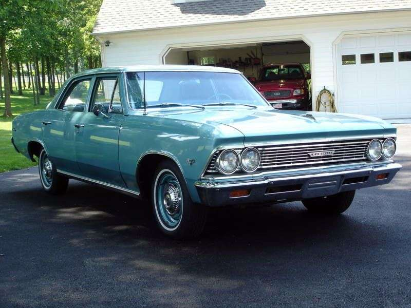 Chevrolet Chevelle 1st generation [2nd restyling] 4 d sedan 5.4 Powerglide (1966–1966)