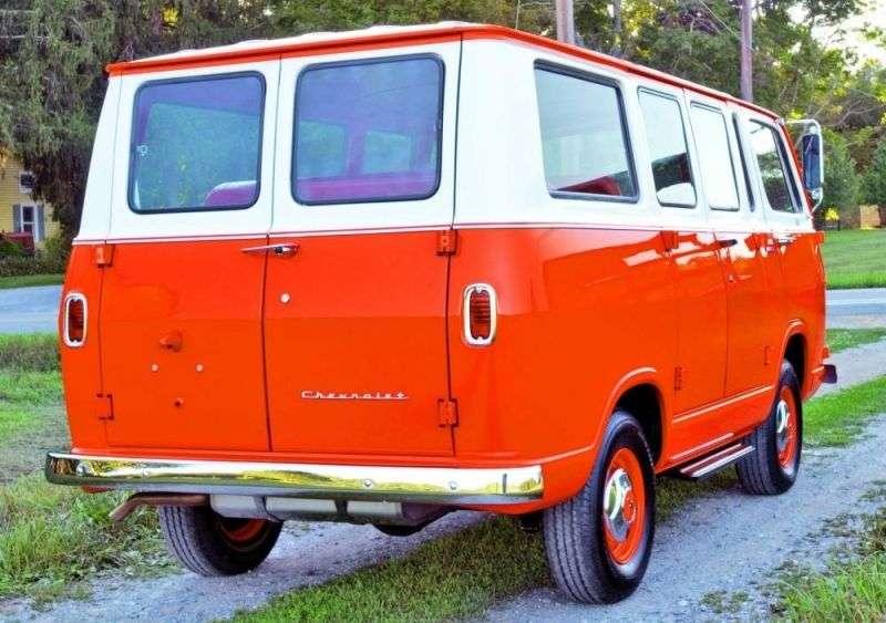 Chevrolet Chevy Van 1.generacja Sportvan minibus 3.8 MT (1965 1966)