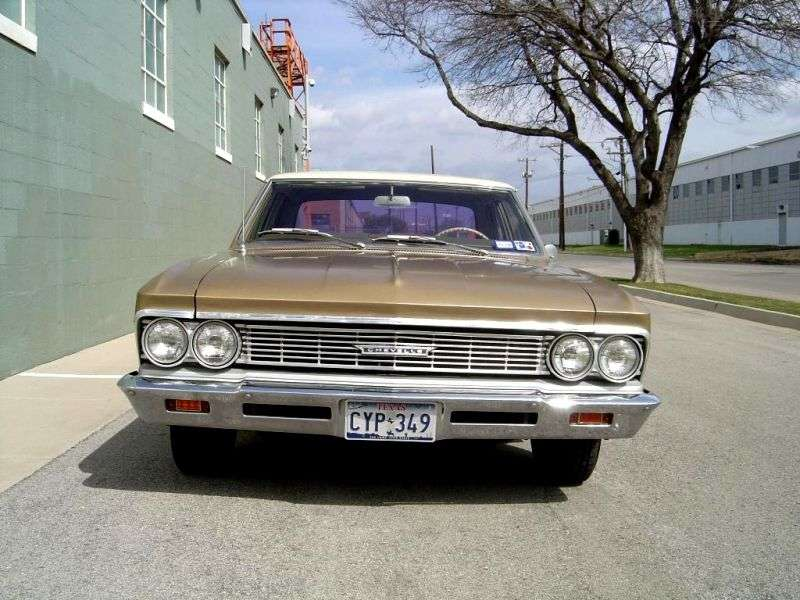 Chevrolet Chevelle 1st generation [2nd restyling] 4 d sedan 5.4 3Synchromesh (1966–1966)