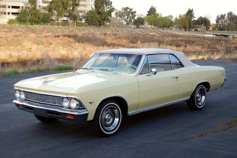 Chevrolet Chevelle 1st generation [2nd restyling] 2 door convertible 3.8 MT (1966–1966)
