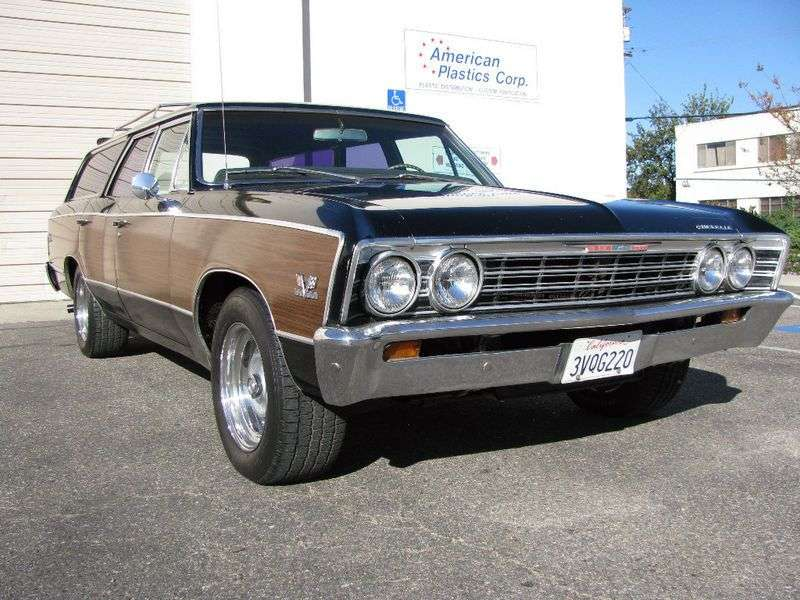 Chevrolet Chevelle 1st generation [3rd restyling] Concours wagon 4.1 Synchromesh (1967–1967)