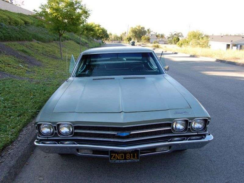 Chevrolet Chevelle 2 generation [restyling] Sport Sedan hardtop 5.0 3MT (1969–1969)
