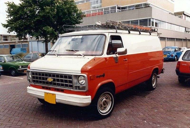 Chevrolet Chevy Van 3rd generation [2nd restyling] van 5.7 MT G20 LWB (1978–1979)