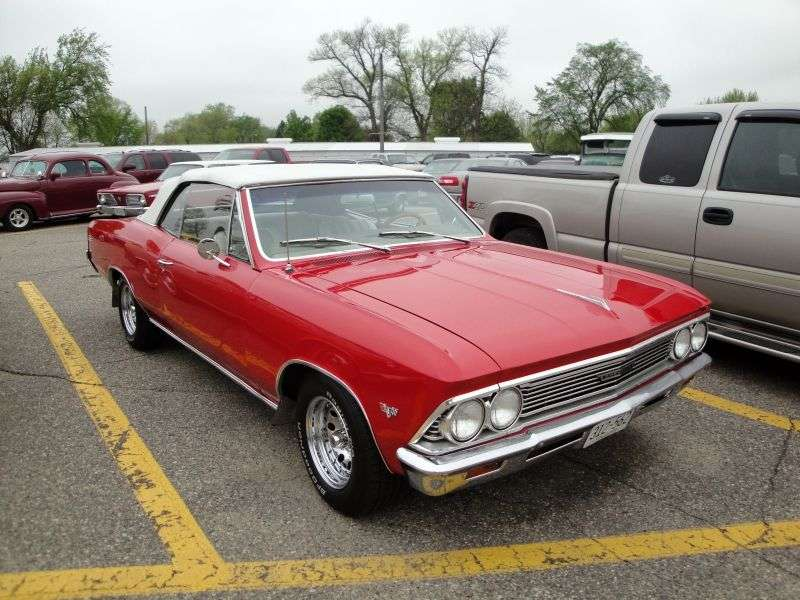 Chevrolet Chevelle 1st generation [2nd restyling] 2 door convertible 4.6 MT Overdrive (1966–1966)