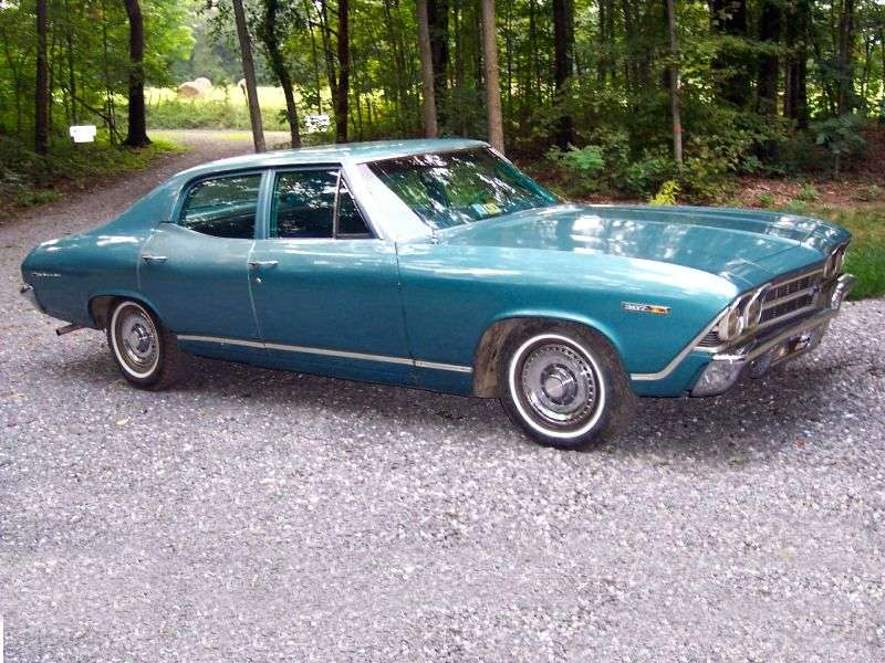 Chevrolet Chevelle 2nd generation [restyling] 3.8 Turbo Hydra Matic sedan (1969–1969)