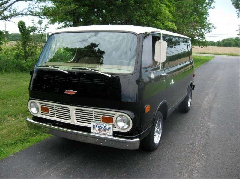 Chevrolet Chevy Van 2nd generation van 4.6 Powerglide G20 (1967–1968)
