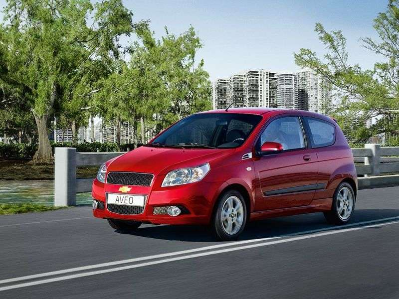Chevrolet Aveo T250 [restyling] 3 bit hatchback 1.2 MT Base (1AK08EO5C) (2008–2011)