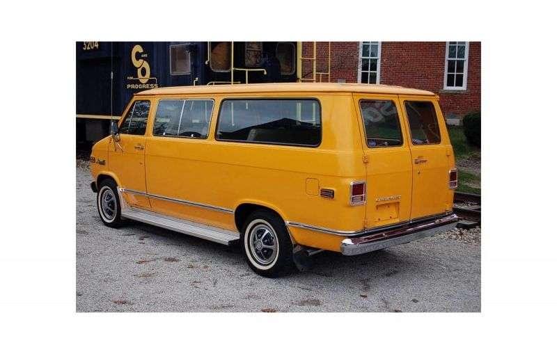 Chevrolet Chevy Van 3rd generation [restyling] Sportvan minivan 4.1 Turbo Hydra matic G10 (1973–1977)