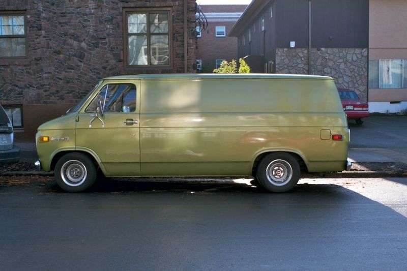 Chevrolet Chevy Van 3rd generation [restyling] van 4.1 Turbo Hydra matic G20 (1973–1974)