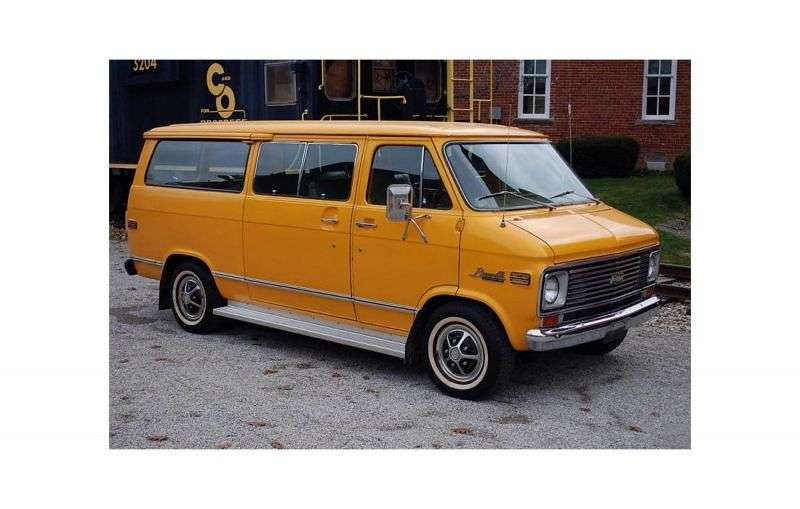 Chevrolet Chevy Van 3rd generation [restyling] Sportvan minivan 5.7 MT G10 (1974–1977)