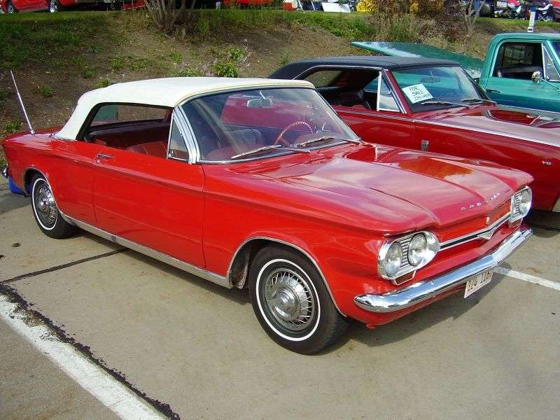 Chevrolet Corvair 1st generation [4th restyling] 2.7 3MT Convertible (1964–1964)