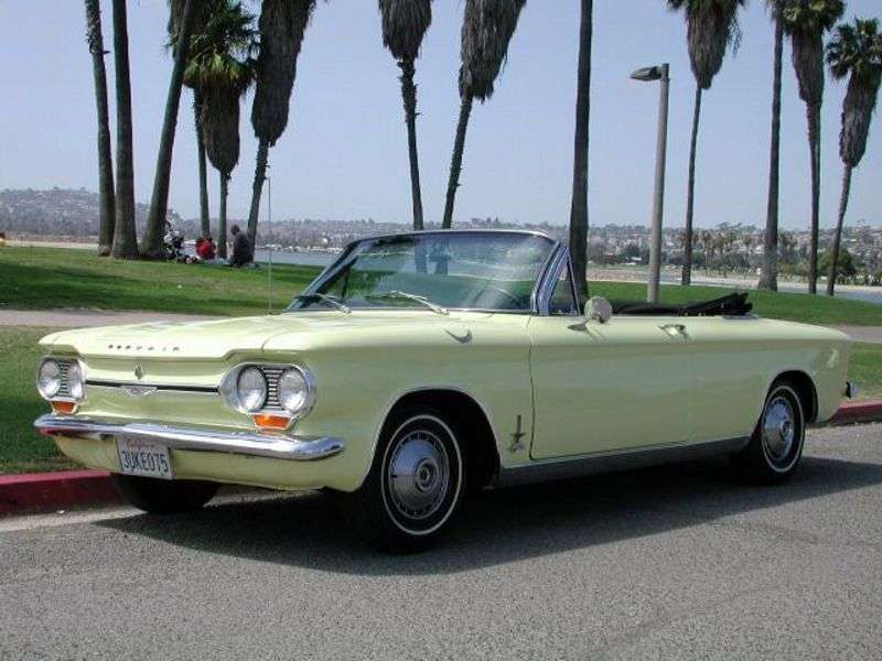 Chevrolet Corvair 1st generation [4th restyling] 2.7 4MT Convertible (1964–1964)