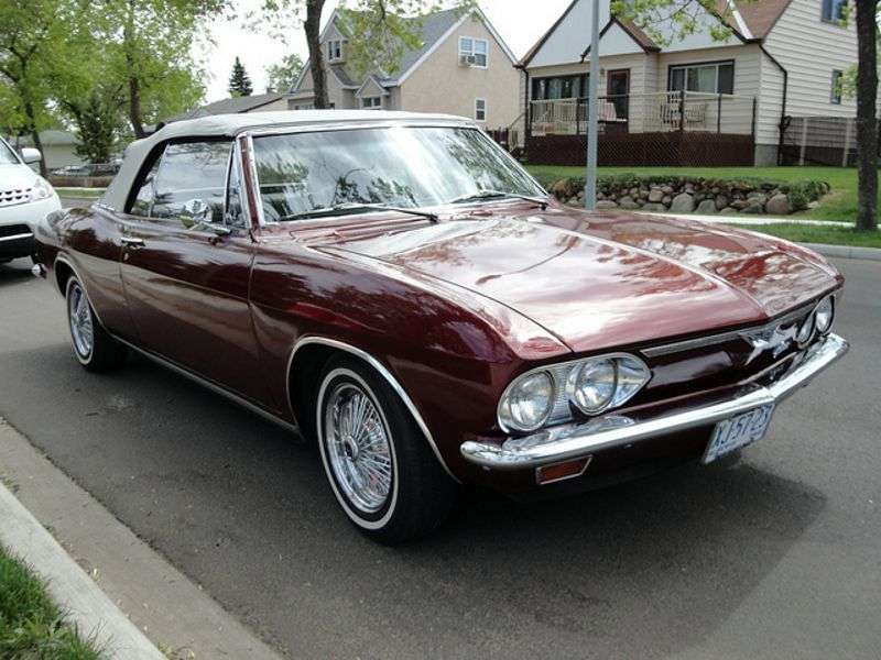 Chevrolet Corvair 2nd generation [restyling] 2.7 4MT convertible (1966–1969)