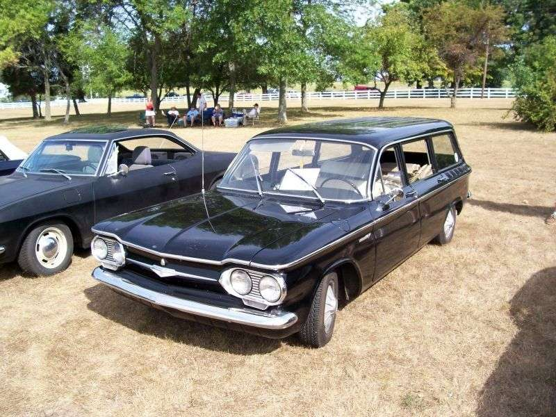 Chevrolet Corvair 1st generation [2nd restyling] wagon 2.4 3Synchromesh (1962–1962)
