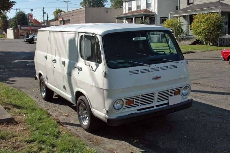 Chevrolet Chevy Van 2nd generation van 5.0 4MT G20 (1968–1970)