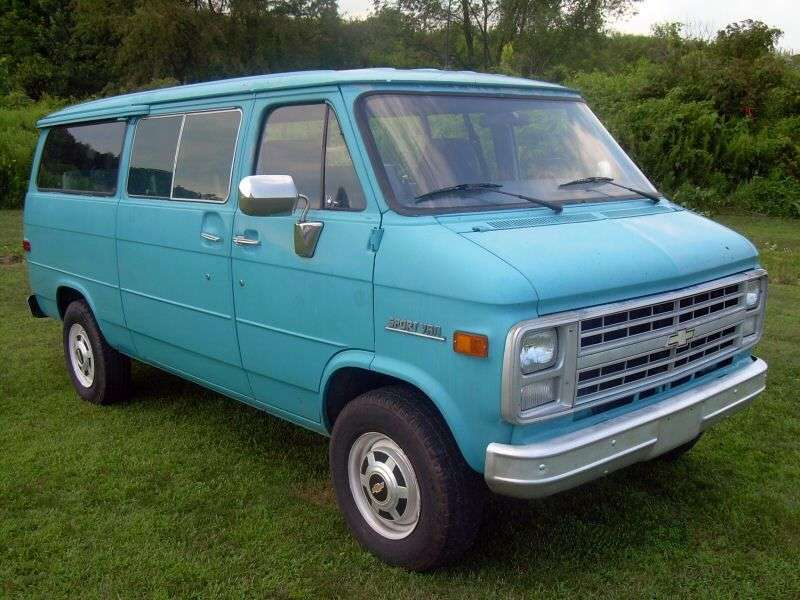 Chevrolet Chevy Van 3rd generation [3rd restyling] Sportvan minivan 4.1 AT G20 (1983–1985)