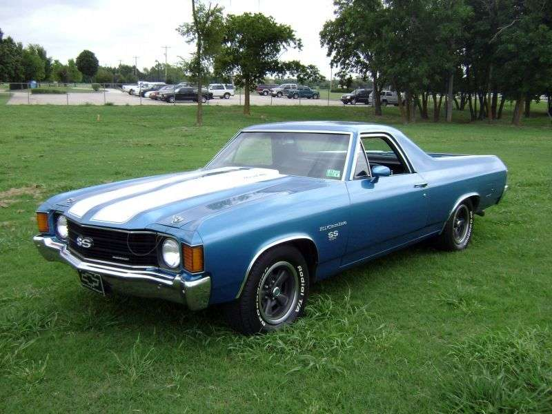 Chevrolet El Camino 3rd generation [4th restyling] pickup 5.7 4MT (1972–1972)