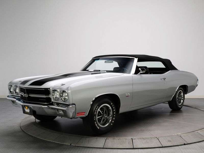 Chevrolet Chevelle 2nd generation [2nd restyling] 6.6 MT convertible (1970–1970)